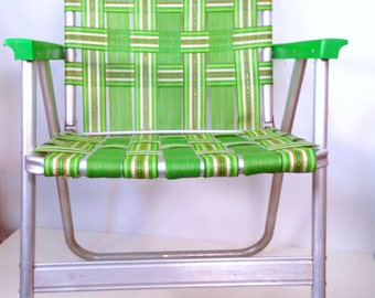 Vintage lawn chairs 1950s metal folding chairs by 86home on etsy - Metal Lawn Chair On Etsy A Global Handmade And Vintage