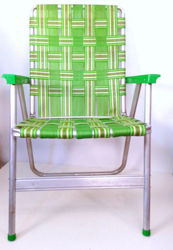 chaise de jardin vintage aluminium vert par forrestinavintage. Black Bedroom Furniture Sets. Home Design Ideas