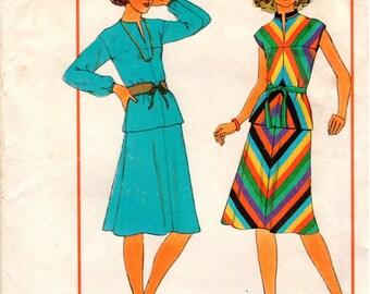 Vintage UNCUT Simplicity Personal-Fit Pattern 7966 - Misses Bias Two-Piece Dress - 6-8