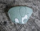 Large Green Beach Glass Elephant