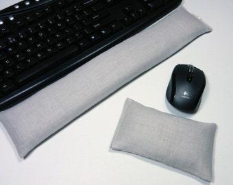 Linen Computer Keyboard Wrist Rest & Optional Mouse Wrist Support Set - Lavender or Unscented