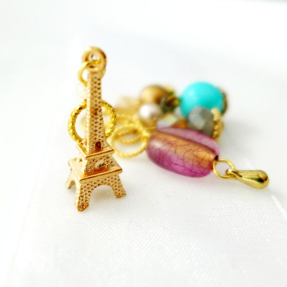 Eiffel Tower Smile - Five Handmade Stitch Markers - 5.0mm (8 US) - Limited Edition