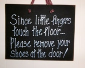 Little fingers on floor, Remove shoes sign, baby crawling,  Mother's day, welcome, door,