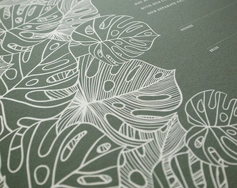 Ketubah Giclée Print by Jennifer Raichman - Tropical Flora