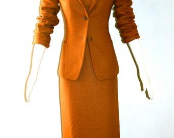 PACO RABANNE Vintage Outfit 3 Piece Wool Coat Suit Dress Blazer - AUTHENTIC -