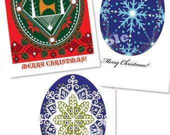 Ukrainian Christmas Pysanky cards