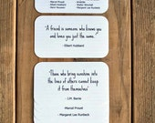 Friendship Quote Cards  - Mini Cards - Love Quotes - Quotable Quotes - 2 x 3.5
