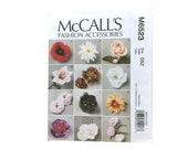 McCall's 6523, Fashion Accessories Sewing Pattern, Daisy, Peony, Carnation, Poppy, Gardenia, Rose, Lily, DIY Fabric Flower, Flower Pattern