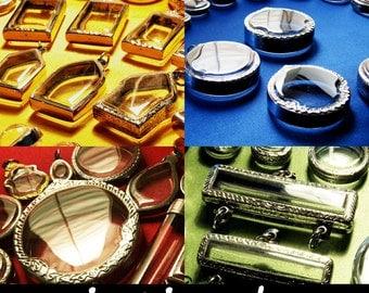 GRAB BAG! Wholesale Pendants, Clear Locket, Intirado, Reliquary, Vial, Planter, Shadow Box Pendant, Craft Supplies, 25pcs Randomly Picked