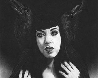 The Phoenix and Her Familiars Original Artwork