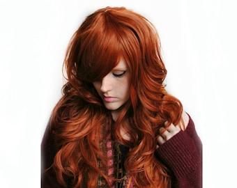 SALE Auburn wig | Red wig, curly red wig, scene wig | Auburn Red Hair | Natural Boho Indie Hair | Autumn Darling