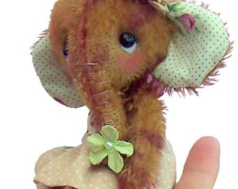Magnolia soft toy elephant sewing pattern.  Mini elephant