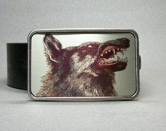 Belt Buckle Wolf Dog Werewolf Cool Gift for Men or Women
