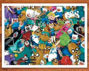 The Fun Will Never End - Adventure Time Toy Print 16 x 12