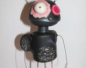 Valentine STINK bug 5.5 inches adorably miserable Original by Janell Berryman Pumpkinseeds