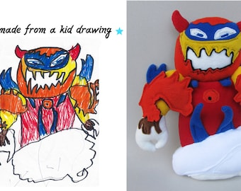 Toy doll from a drawing Turn picture or design into real softie Custom made daemon plushie - MADE TO ORDER