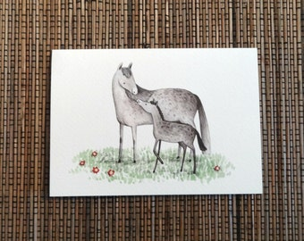 Mare & Foal Card