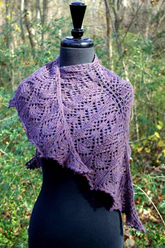 Knitting Pattern For Lace Top : Downloadable Knitting Pattern Lace Top-Down Triangular