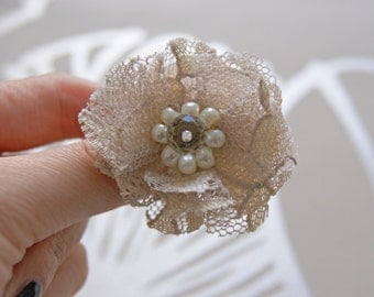 SALE - Lace Fabric Ring