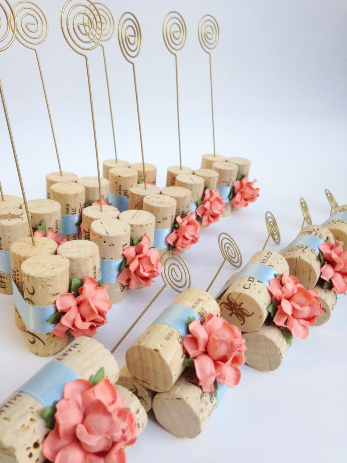 Table number holder table number holder by for Wine cork crafts for weddings