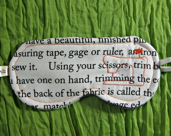 Sleep Mask, Sewing Instructions, Sewing Machine, OOAK
