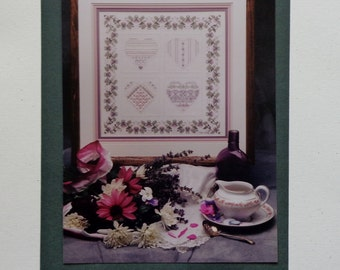 Teri Richards Herman Shepherd's Bush WINTER HEARTS SAMPLER Charted Needlework Design Kit - Counted Cross Stitch Pattern Chart