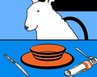 "Pop Art Dog  ""Haunted"" Bull Terrier Print"