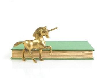Mid Century Mini Brass Unicorn