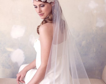 SALE, Crystal Art Deco Cap Veil, Swarovski Crystal Juliet Cap Veil, Great Gatsby Crystal Wedding Veil, Bridal Veil, Crystal Wedding Veil