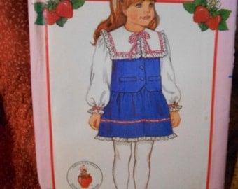 Butterick 6100 Vintage Strawberry Shortcake Fashions Dress Pattern size 2-3-4