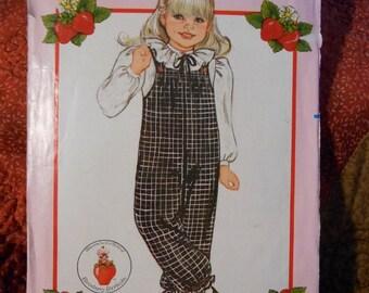 Butterick 4884 Strawberry Shortcake Fashions Jumpsuit child size 2-3-4