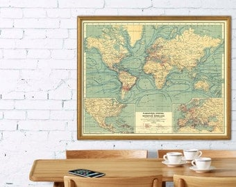 carte du monde carte vintage du monde the world par ancientshades. Black Bedroom Furniture Sets. Home Design Ideas