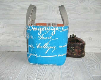 Bags & Purses /  Back to School / Tote / Travel Bag / Dorm Room / Packing Organizer Basket /Vanity Storage /Cosmetic Bag/ Home and Living