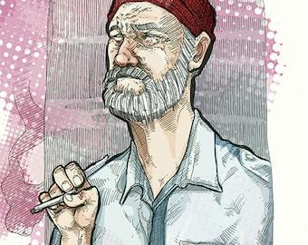 Etsy Art Richie Tenenbaum Meltdown Art Illustration By SuPmon