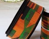 1-3/8  x 10yd. WIRED KENTE Ribbon Roll