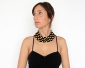 NEW - The triple braid necklace - handmade in gold fabric