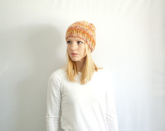 chunky knit hat womens slouchy hat beanie - countryside