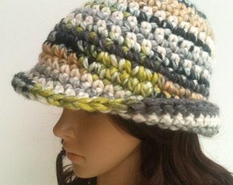 Crochet Cloche.... Crochet Brim Hat.. Crochet Hat....Winter Crochet Hat