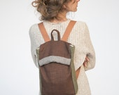 laptop backpack earth colors backpack brown green backpack ipad backpack small backpack brown rucksack fold over backpack natural rucksack