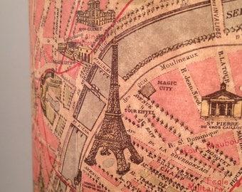 Oui Oui!! Vintage Paris map lamp,  French boudoir chic