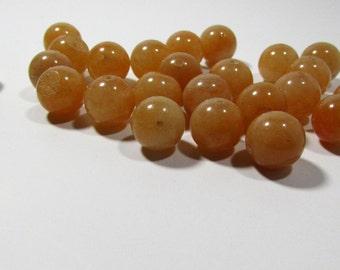 Peachy Orange Aventurine Ball Beads 10mm