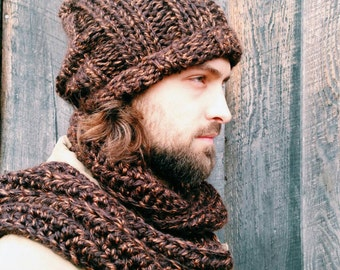 Mens scarf,Mens winter accessories,Mens fashion scarves,Warm Scarves,Mens chunky scarf,Long scarf, Gifts For Him