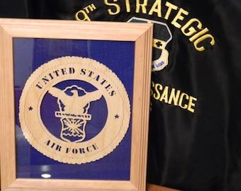 Framed Air Force Plaque