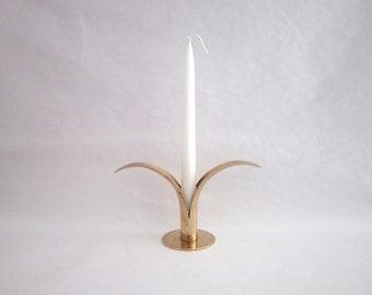Brass Candle Holder Designed by Ivar Ålenius Björk for Ystad-Metall, Sweden