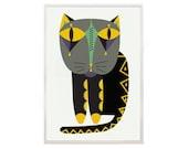 Cat print poster 12 Cat shop - art print by nicemiceforyou