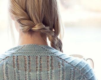 Loslassen Shawl Knitting Pattern Modern Lace Garter Openwork PDF