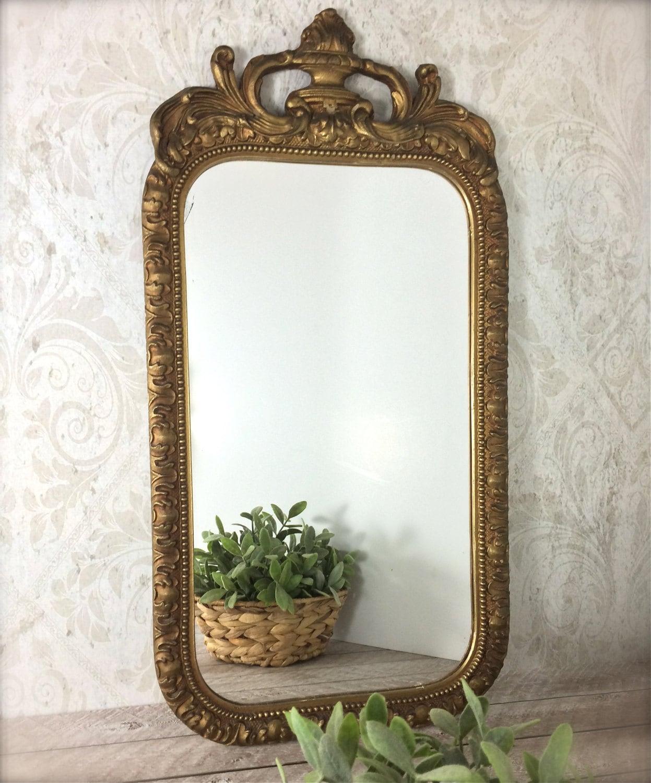 Antique gold frame mirror baroque mirror by for Small baroque mirror