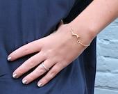 Gold Branch Bracelet-Twig...