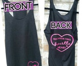 Hustle & Heart Workout Tank Top, Charcoal Triblend Racerback Workout Tank Top