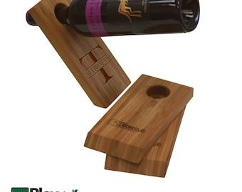 Last Name Monogram Gravity Wine Bottle Holder | Gravity Defying Wine Bottle Holder | Balancing Wine Holder, Unique Gifts Under 20 Dollars